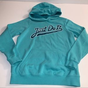 Nike Just Do It Pull-Over Hoodie Size: Large